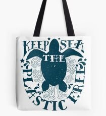 Keep The Sea Plastic Free Sea Turtle Conservation Tote Bag