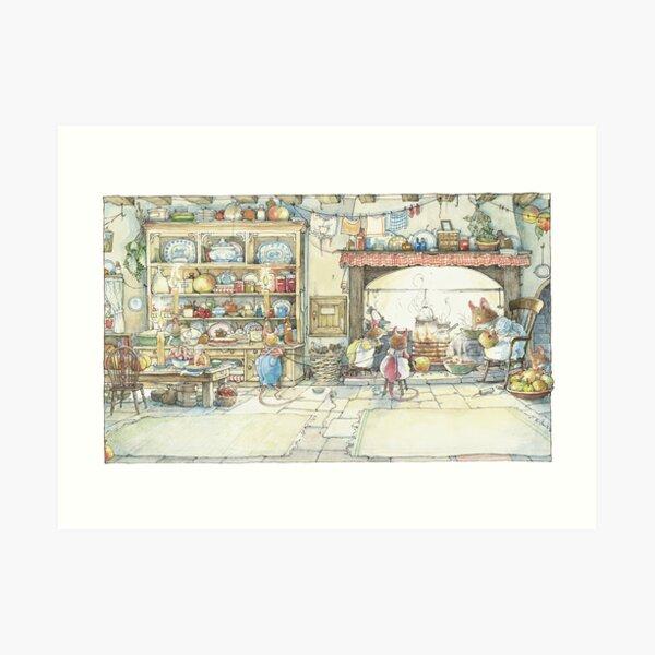 The Kitchen At Crabapple Cottage Art Print