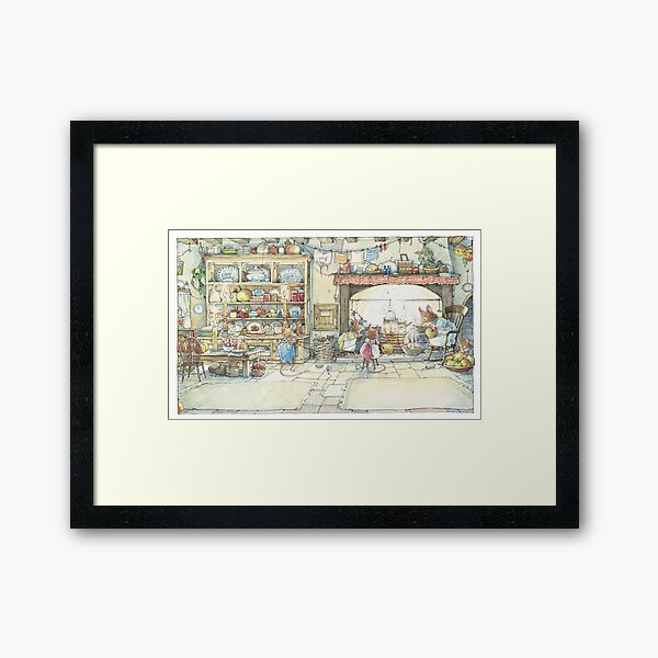 The Kitchen At Crabapple Cottage Framed Art Print