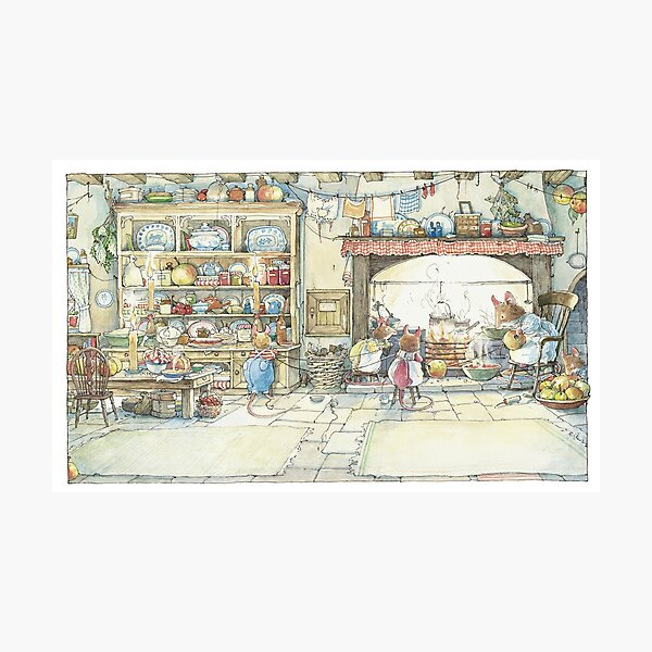 The Kitchen At Crabapple Cottage Photographic Print
