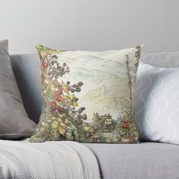 Walk to the High Hills Throw Pillow