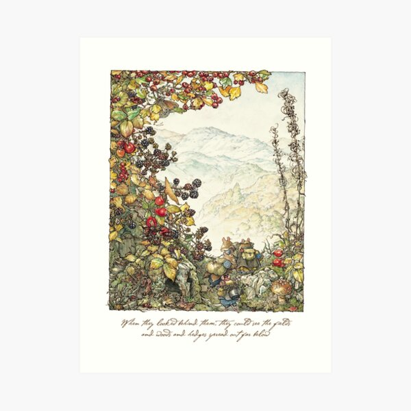 Walk to the High Hills Art Print
