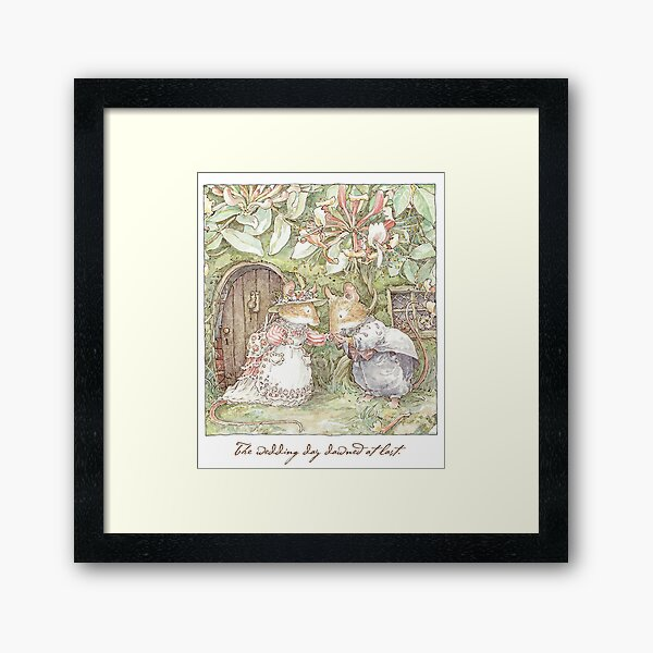 The Wedding Day Dawned At Last Framed Art Print