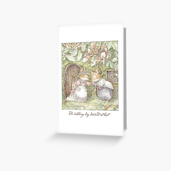 The Wedding Day Dawned At Last Greeting Card