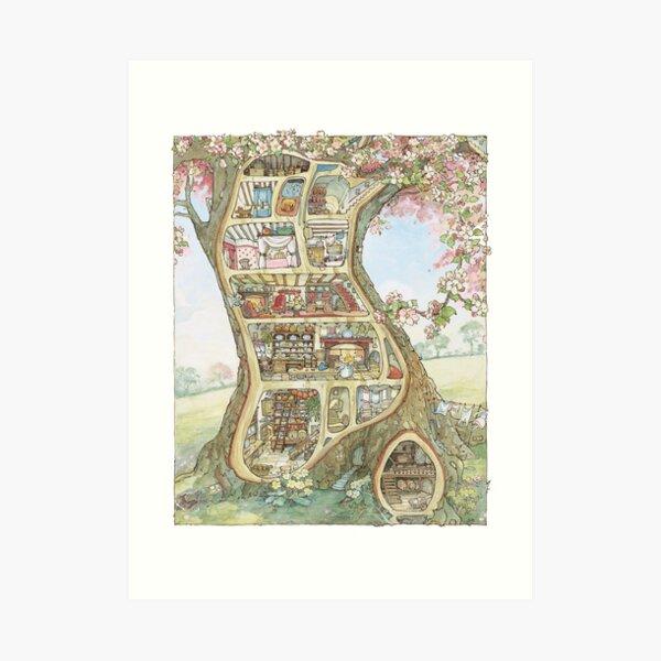 Crabapple Cottage Art Print
