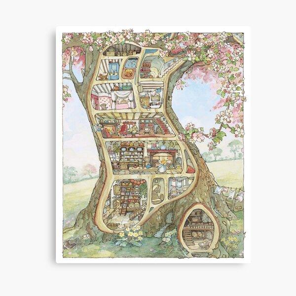 Crabapple Cottage Canvas Print