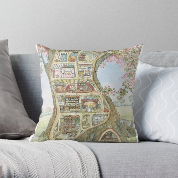 Crabapple Cottage Throw Pillow