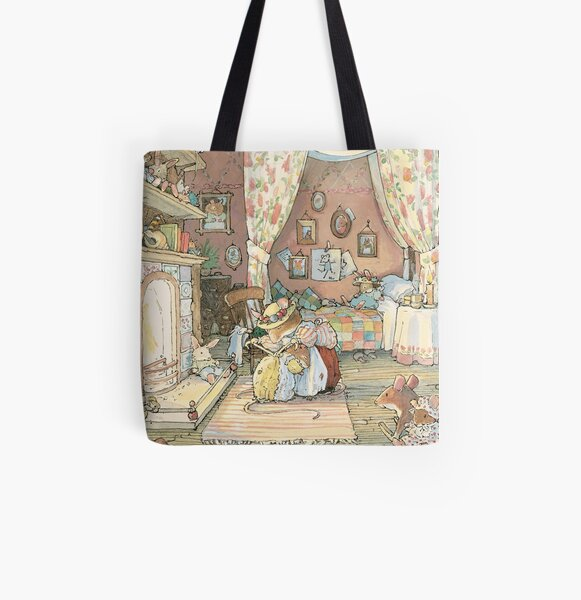 Lady Woodmouse gets Primrose ready for bed All Over Print Tote Bag