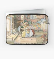 Lady Woodmouse gets Primrose ready for bed Laptop Sleeve