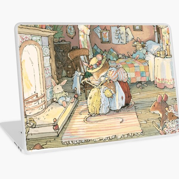 Lady Woodmouse gets Primrose ready for bed Laptop Skin