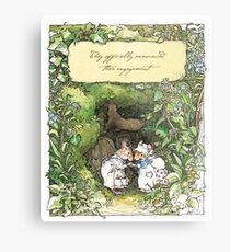 Poppy and Dusty get engaged Metal Print