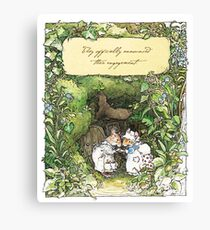 Poppy and Dusty get engaged Canvas Print