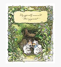 Poppy and Dusty get engaged Photographic Print
