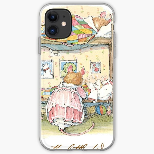 Lady Woodmouse gets the little mice into bed iPhone Soft Case