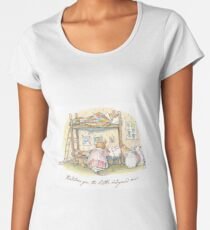 Lady Woodmouse gets the little mice into bed Women's Premium T-Shirt
