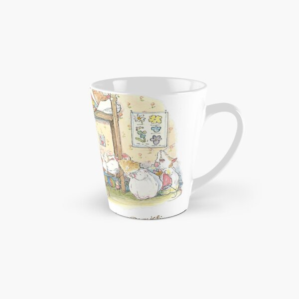 Lady Woodmouse gets the little mice into bed Tall Mug