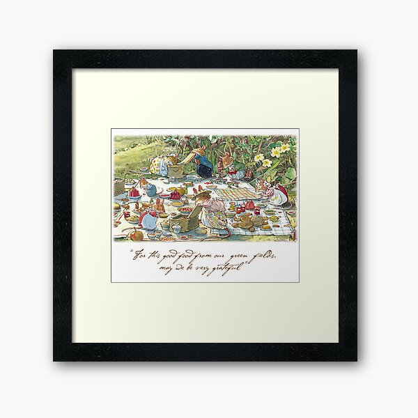 Picnic time Framed Art Print