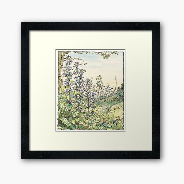 On the way to the Store Stump Framed Art Print