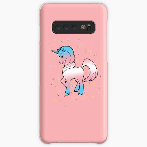 Unicorn in Trans Pride Flag Colours  Samsung Galaxy Snap Case
