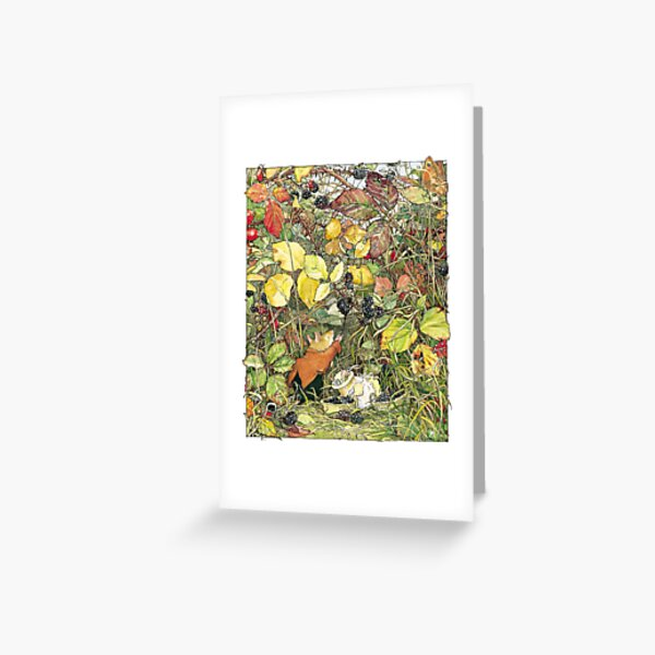 Blackberry picking Greeting Card