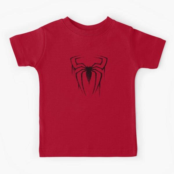 Spider Symbol (Black Version) Kids T-Shirt