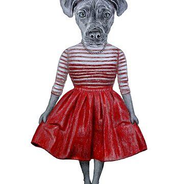 Dog lady by windzao
