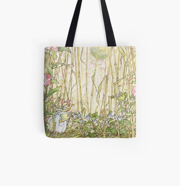 Primrose gathering flowers All Over Print Tote Bag