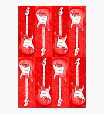 Red Stratocaster - Electric Guitar #5 Photographic Print