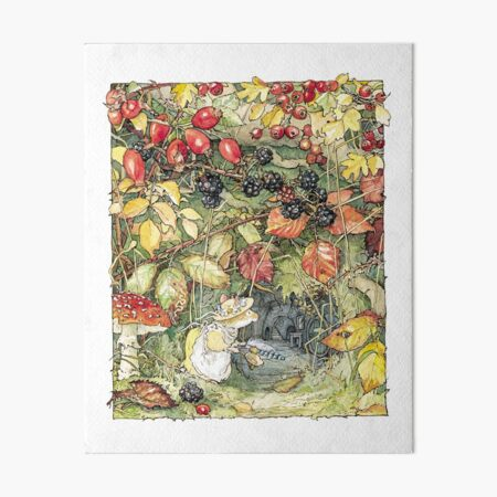 Primrose at the entrance to the tunnels Art Board Print