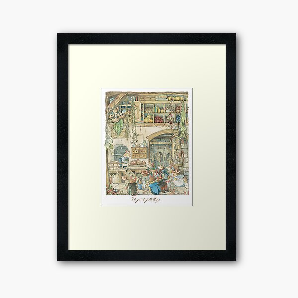 The fruits of the hedge Framed Art Print