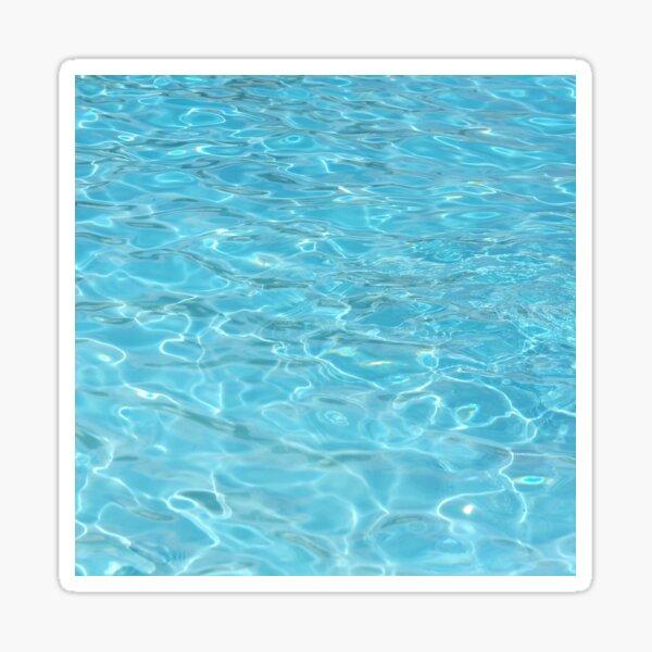 minimalist summer beach ocean turquoise water aqua blue  Sticker