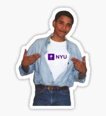 Pegatina Obama NYU