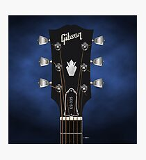 GUITAR HEADSTOCK ART - GIBSON ES-335 Photographic Print