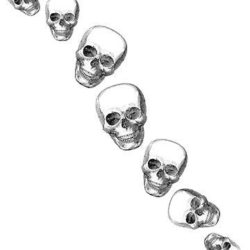 Tumbling Skulls by MAMMAJAMMA