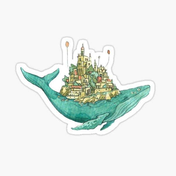 Whale Sky Island Sticker
