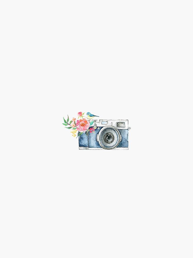 Cute Watercolor Vintage Camera  by janachesnut