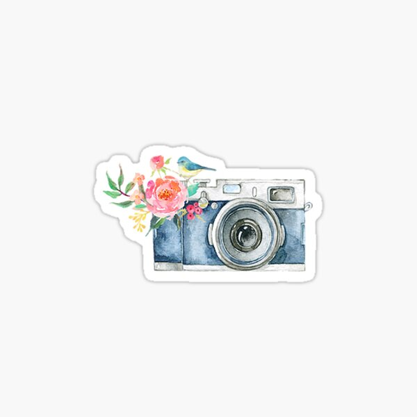 Cute Watercolor Vintage Camera  Sticker