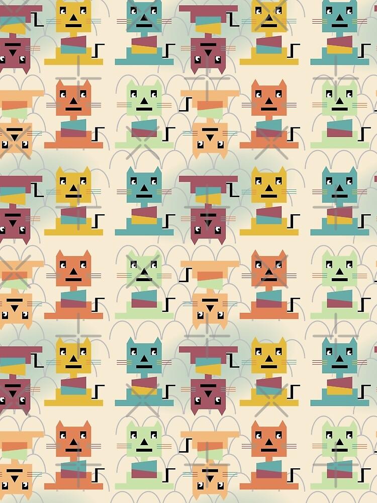 Modern Bauhaus Cats  by CreativeContour