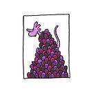Frilly Monster on a Purple Plant by TakoraTakora