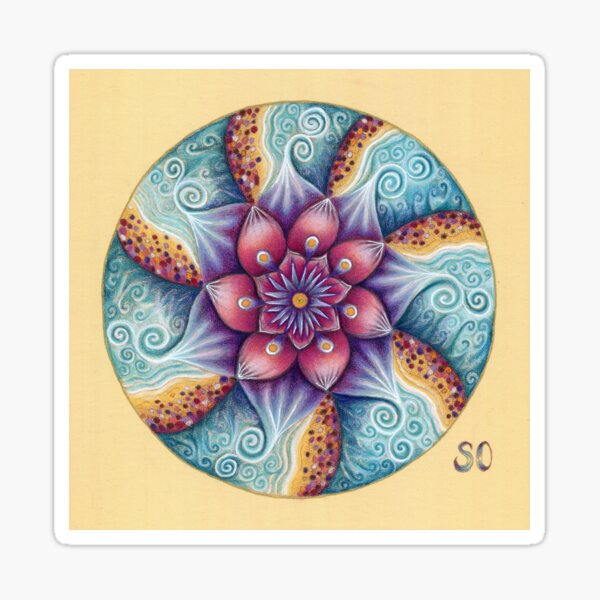 Seascape Mandala Sticker