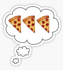 PIZZA ON MY MIND Sticker