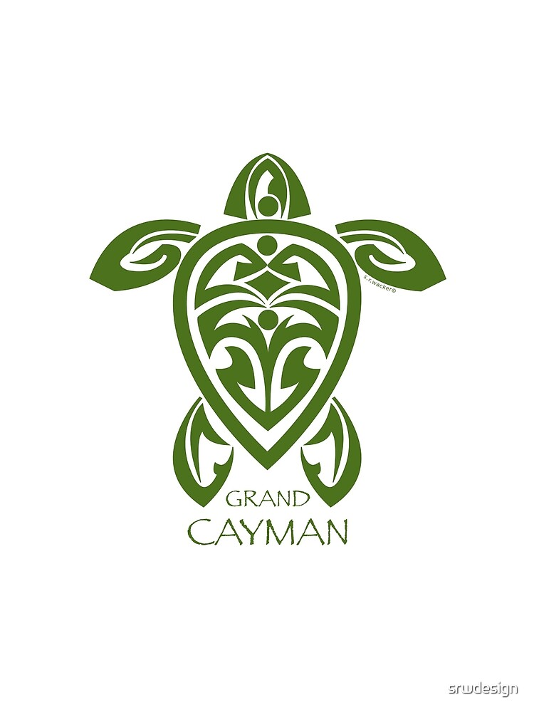 Green Tribal Turtle / Grand Cayman by Susan R. Wacker