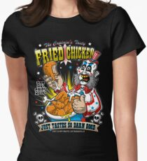 Tasty Fried Chicken Women's Fitted T-Shirt