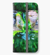 Stone fountain and moss iPhone Wallet/Case/Skin