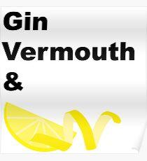 Classic Gin Martini Poster
