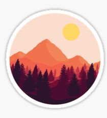 pink mountain xs Sticker