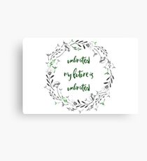 My Future Is Unlimited Canvas Print