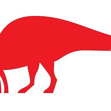 Minimalistic Parasaurolophus by anatotitan