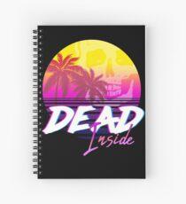 Dead Inside - Vaporwave Miami Aesthetic Spooky Mood Spiral Notebook