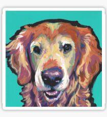 Senior Golden Retriever Dog Bright colorful pop dog art Sticker